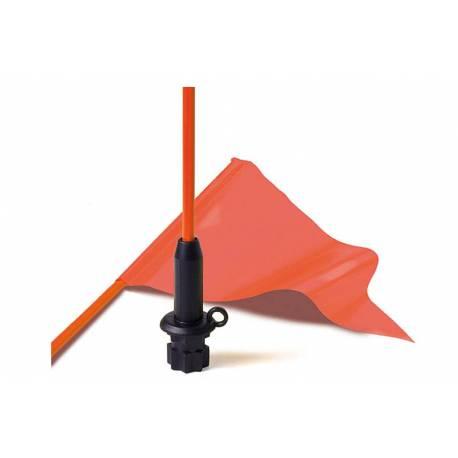 KIT Fanion visibilité orange 30x15cm et porte-fanion 120cm pour StarPort