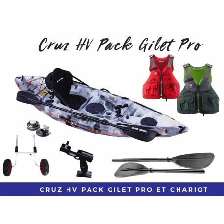 Cruz Pack Fishsing avec Gilet NRS PRO pêche