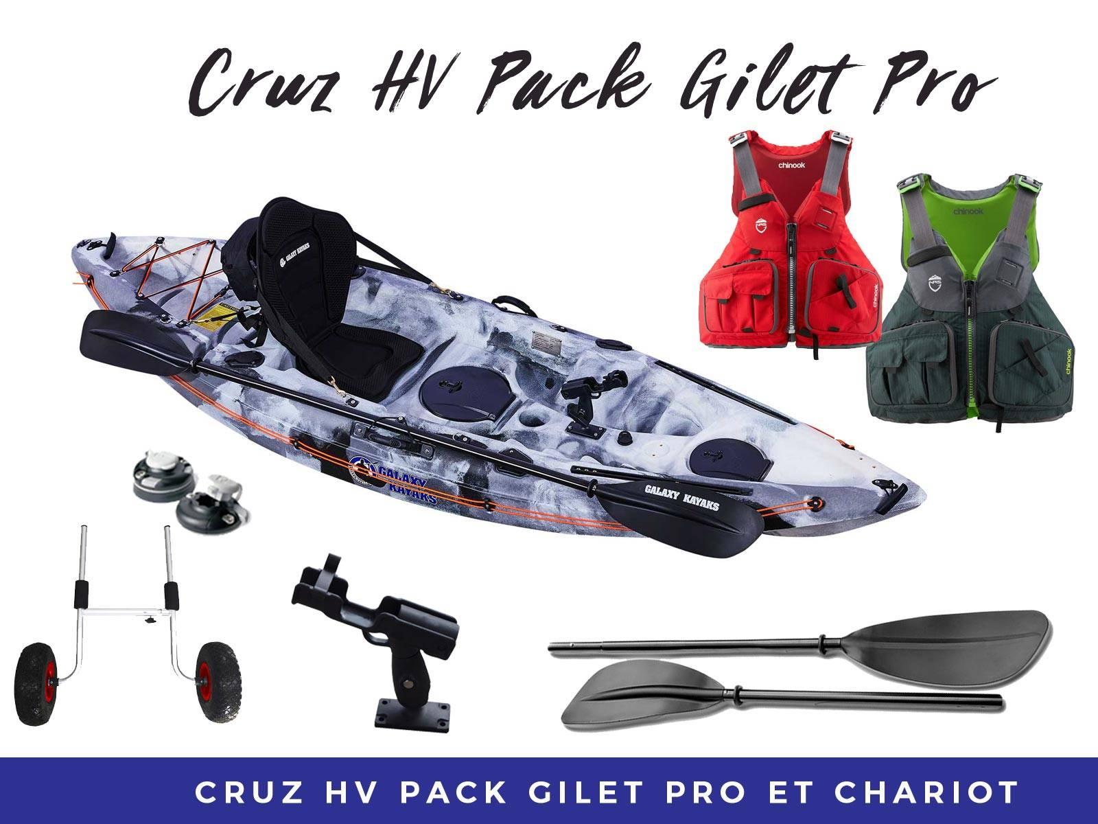 Pack Cruz gilet pêche pro & chariot