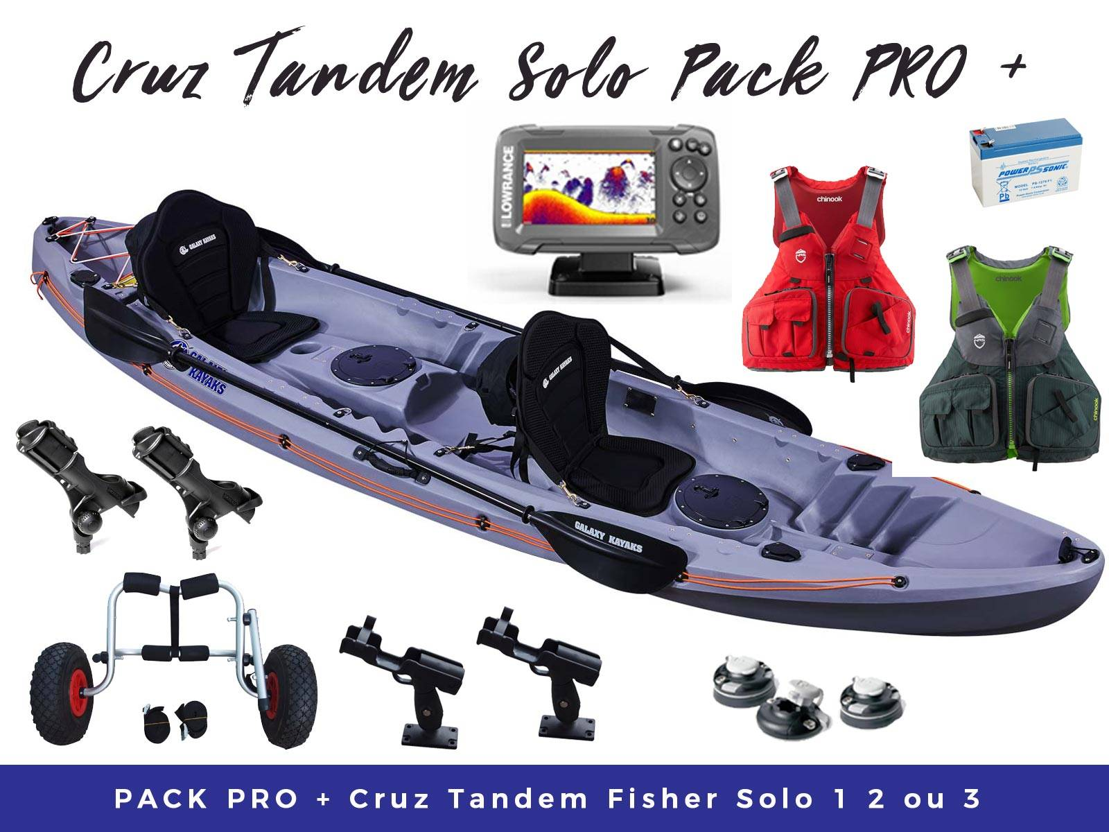Pack Cruz Tandem Fisher Sonde Boom